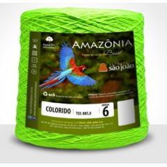 Barbante São João Amazônia Nº 6 Cor 36 Verde Neon 600g