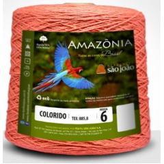 Barbante São João Amazônia Nº 6 Cor 3 Laranja Claro  600g