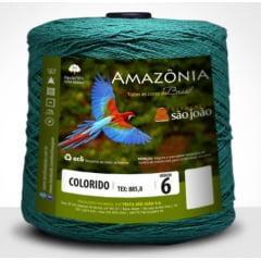 Barbante São João Amazônia Nº 6 Cor 30 Verde Bandeira 600g