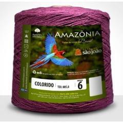 Barbante São João Amazônia Nº 6 Cor 32 Vinho 600g