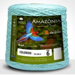 Barbante São João Amazônia Nº 6 Cor 4 Verde Água 600g