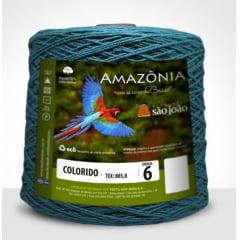 Barbante São João Amazônia Nº 6 Cor 42 Azul Petróleo 600g
