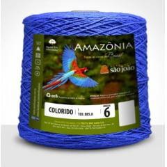 Barbante São João Amazônia Nº 6 Cor 6 Azul Royal 600g