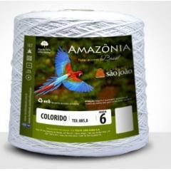 Barbante São João Amazônia Nº 6 Cor 8 Branco 600g