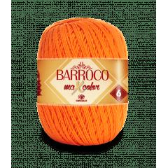 Barbante Barroco Maxcolor nº6 4456 Laranja 400g