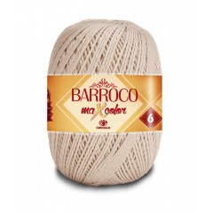 Barbante Barroco Maxcolor nº6 7684 Porcelana 400g