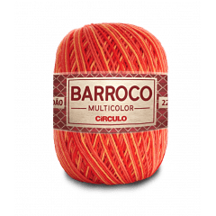 Barbante Barroco Multicolor nº6 9157 Pitanga 400g