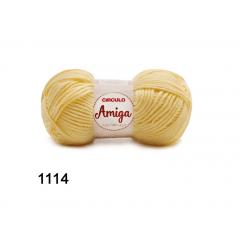 Lã Amiga 1114 Amarelo Candy 100g