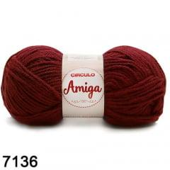 Lã Amiga 7136 Marsala 100g