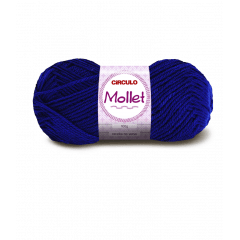 Lã Mollet Círculo 512 Azul Bic 40gr