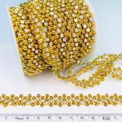 Aljofre Dourado com Cristal Metro