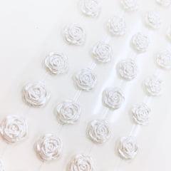 Rosa adesiva 12mm branco