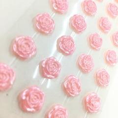 Rosa adesiva 12mm rosa bebe