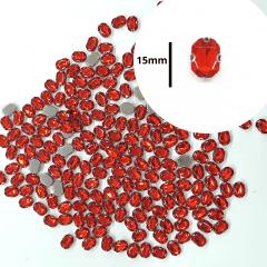 Chaton Engrampado Vermelho Octogonal 10 un