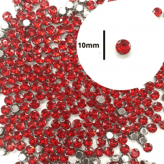 Chaton Engrampado Vermelho Redondo 10 un