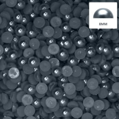Meia Pérola 8 mm Cor Chumbo Abs 250 g