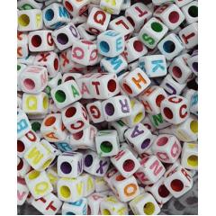 Miçangas Dadinho Alfabeto Colorido 10 Gramas