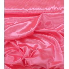 Tecido de Cetim Rosa Neon