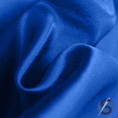 Tecido de Cetim Azul Royal