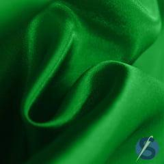 Tecido Cetim Verde Bandeira