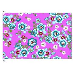 Tecido Chita Floral Azul