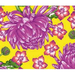 Tecido Chita Amarelo Flor