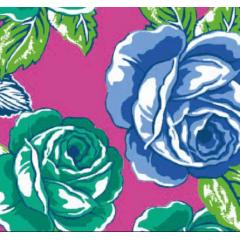 Tecido Chita Rosa Flores