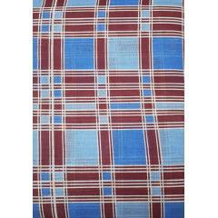 Tecido Chita Xadrez Bordo e Azul
