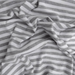 Tecido Cotton listra Branco e Cinza