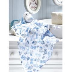 Fralda Estampada Baby Boy 70cm X 70cm Dohler