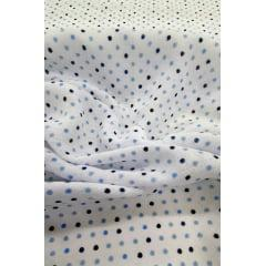 Fralda Estampada  Poá Azul  70cm X 70cm