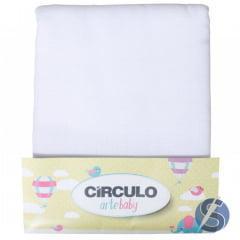 Fralda Pião Círculo Arte Baby Branca Pacote 5m