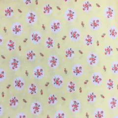 Tecido Lycra Confort New Amarelo Floral