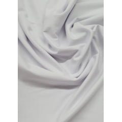 Tecido Malha Fio 30/1 Penteada Branca Metro