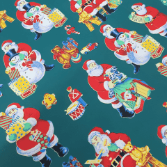 Tecido Oxford Verde Papai Noel