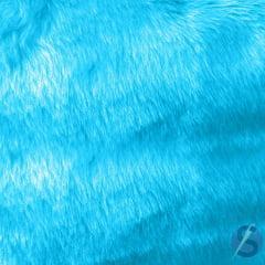 Tecido Pelúcia Pelo Baixo Azul Turquesa