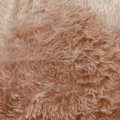 Tecido Pelúcia Pelo Baixo Rosa Envelhecido