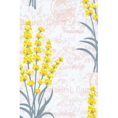 Tecido Percal Floral Amarelo Lavanda