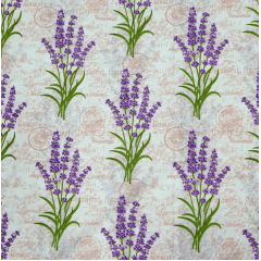 Tecido Percal Floral Lilás Lavanda
