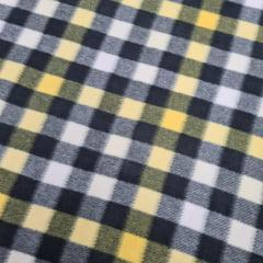 Tecido Soft Xadrez Amarelo