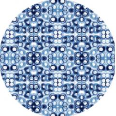 Tecido  Sarja Molde Souplat  Geométrico Aquarelado