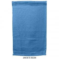 Toalha Lavabo Para Bordar Azul Escuro 626 Slim Lisa