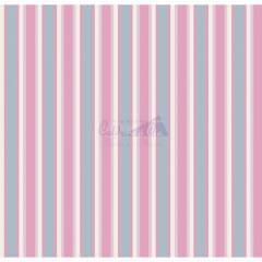 Tecido Tricoline Listrado Toscana Azul Com Rosa