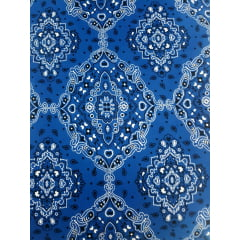 Tecido Bandana Azul Bic Tricoline