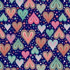 Tecido Tricoline Amor Urbano Azul Marinho