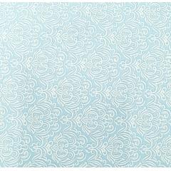 Tecido Tricoline Azul Bebê Arabesco