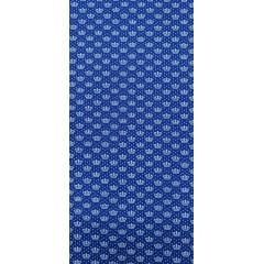 Tecido Tricoline Azul Bic Coroas