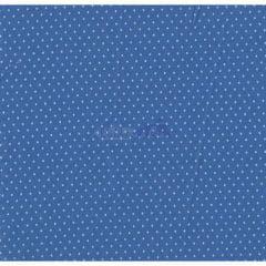 Tecido Tricoline Azul Bic Mini Poá Branco Caldeira