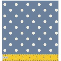 Tecido Tricoline Azul Jeans Poá Médio