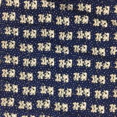 Tecido Tricoline Azul Marinho Dalmata